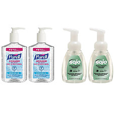 Purell GOJO Hand Sanitizer And Foam
