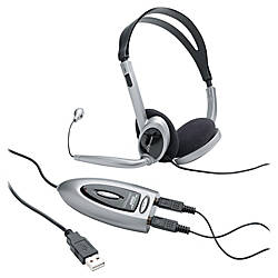 Compucessory Multimedia USB Stereo Headset Stereo