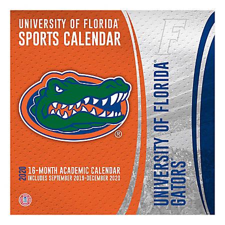 "Turner Licensing NCAA 16-Month Academic Wall Calendar, 12"" x 12"", Florida Gators, September 2019 To December 2020, 20998011799"