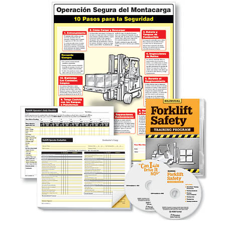 """ComplyRight Forklift Training Compliance Bundle, English/Spanish, 18"""" x 24"""""""