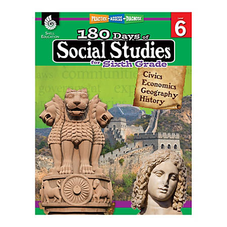 Shell Education 180 Days Of Social Studies, Grade 6