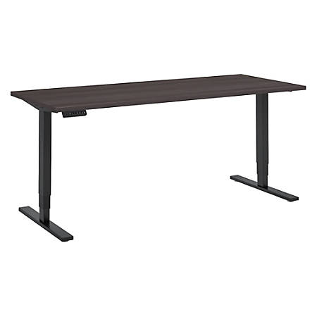 "Bush Business Furniture Move 80 Series 72""W x 30""D Height Adjustable Standing Desk, Storm Gray/Black Base, Standard Delivery"