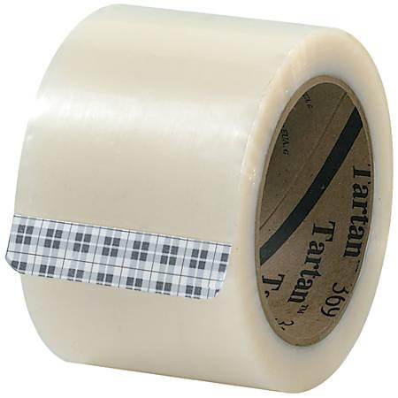 "Tartan™ 369 Carton-Sealing Tape, 3"" Core, 3"" x 110 Yd., Clear, Pack Of 6"