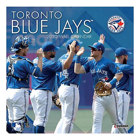 "Turner Licensing Monthly Wall Calendar, 12"" x 12"", Toronto Blue Jays, 2020"