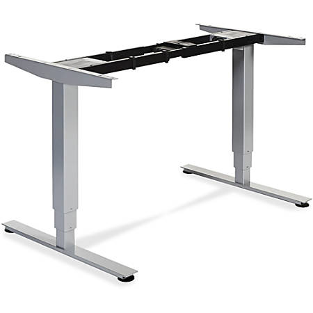 """Lorell Electric Height Adjustable Sit-Stand Desk Frame - 2 Legs - 50"""" Height x 26.60"""" Width x 44.25"""" Depth - Assembly Required - Silver"""