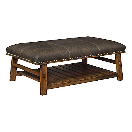 Coast to Coast Cocktail Ottoman, Brown