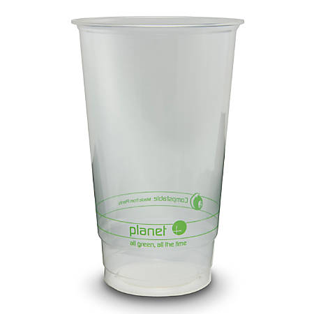 StalkMarket® Planet+ Compostable Cold Cups, 24 Oz, Clear, Pack Of 1,000 Cups