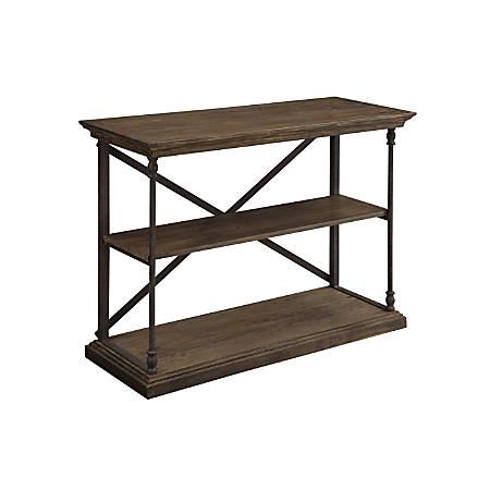 "Coast to Coast Corbin Wood Console Table, 18""D, Brown"
