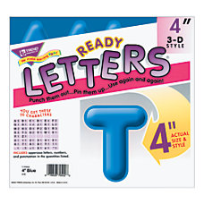 Trend 3 D Ready Letters 4