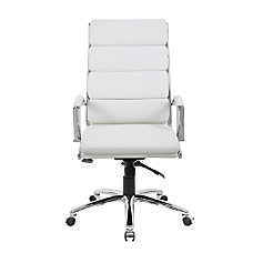 Boss Executive CaressoftPlus Chair WhiteChrome