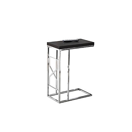 Monarch Specialties Accent Table, Metal Base, Rectangular, Cappuccino/Chrome
