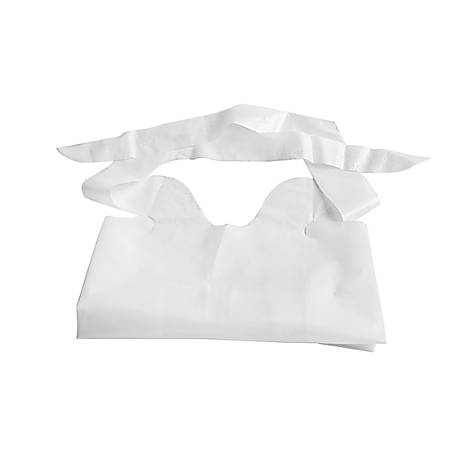 "Medline Waterproof Plastic Bibs With Crumb Catchers, 15"" x 20"", White, Case Of 500"