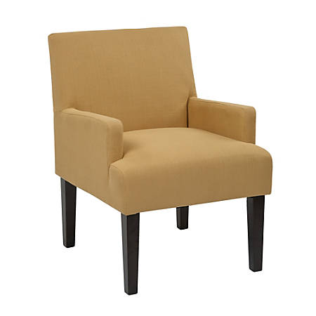 Ave Six Work Smart™ Main Street Guest Chair, Woven Wheat/Black