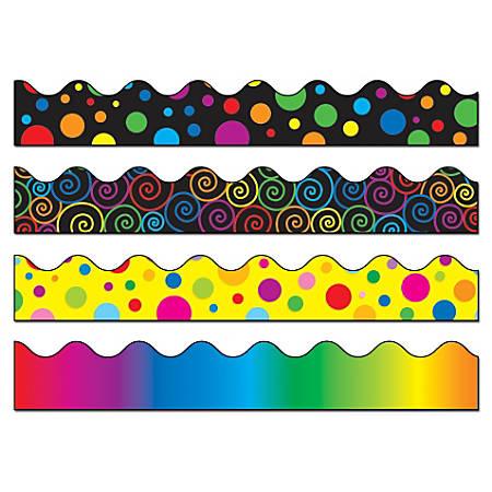 Carson-Dellosa Scalloped Borders, Multicolor, Grades Pre-K - 8, Pack Of 52