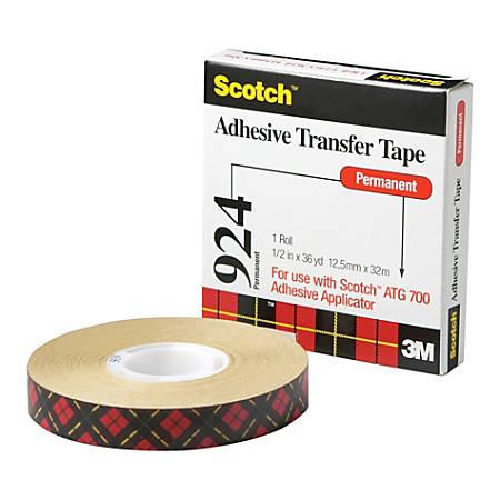 """Scotch® General Purpose Transfer Tape, 1/2""""W x 1,296""""L, Clear"""