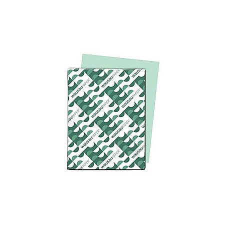 """Exact® Vellum Bristol Cover Stock, 8 1/2"""" x 11"""", 67 Lb, Green, Pack Of 250 Sheets"""
