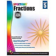 Carson Dellosa Spectrum Math Workbook Fractions