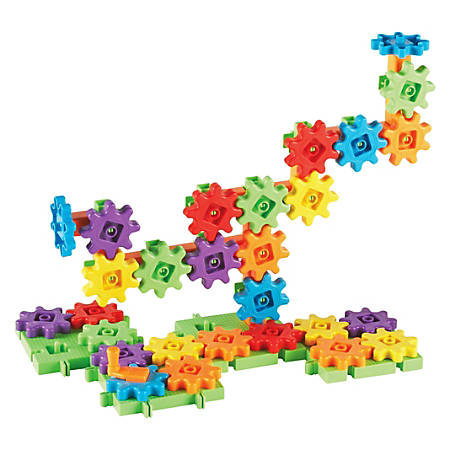 Gears!Gears!Gears! Gears 60-piece Starter Building Set - Theme/Subject: Fun - Skill Learning: Building, Imagination, Construction, Discovery, Critical Thinking, Problem Solving, Creativity, Cause & Effect, Eye-hand Coordination - 3 Year & Up - 60 Pieces