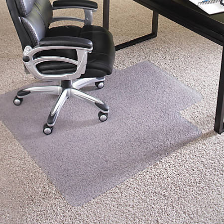 "ES Robbins Crystal Edge Chairmat, Rectangle, 36"" x 48"", Clear"