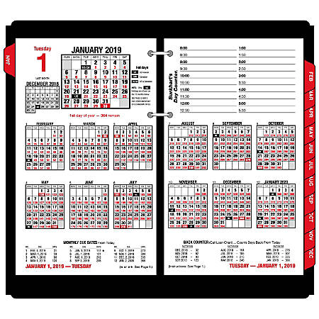 "AT-A-GLANCE® Burkhart's Day Counter Daily Desk Calendar Refill, 4 1/2"" x 7 3/8"", January to December 2019"