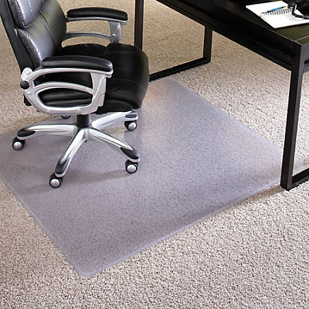 "ES Robbins Performance Dlx Chair Mat, Rectangular, 46"" x 60"", Clear"