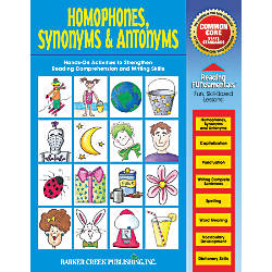 Barker Creek Grammar Activity Book Homophones
