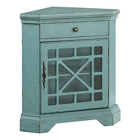 "Coast to Coast 1-Shelf Corner Cabinet, 32-1/2""H x 29-1/2""W x 19""D, Blue"