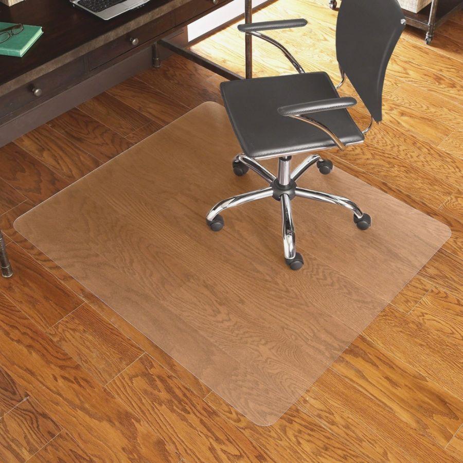 es robbins hardwood floor chair mat rectangular 46 x 60 clear rh officedepot com floor mats for dental chairs floor mats for high chairs