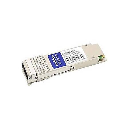AddOn Intel E10GQSFPSR Compatible TAA Compliant 40GBase-SR4 QSFP+ Transceiver (MMF, 850nm, 150m, MPO, DOM)