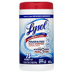 Lysol Power Free Multipurpose Disinfecting Wipes
