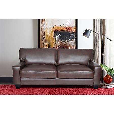 "Serta Deep-Seating Palisades Sofa, 73"", Chestnut/Espresso"