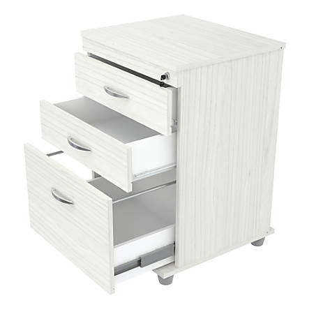 Inval Letter/Legal-Size Vertical File Cabinet, 3 Drawers, Laricina White