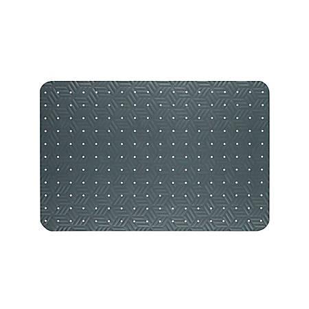 """The Andersen Company Wet Step Antifatigue Floor Mat, 36"""" x 120"""", Gray"""