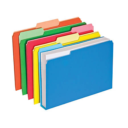 "Pendaflex® Double Stuff File Folders, Letter Size, 1 1/2"" Expansion, Assorted Colors, Pack Of 50 Folders"