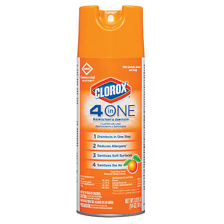 Clorox 4-In-1 Disinfectant And Sanitizer Spray, 14 Oz