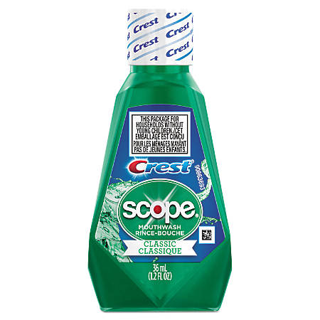 Crest® And Scope® Rinse, Classic Mint, 1.2 Oz, Pack Of 180 Bottles