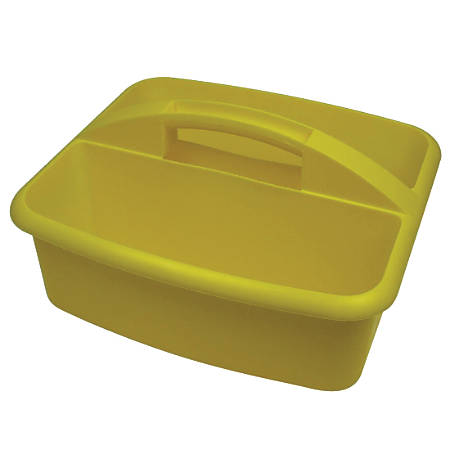 """Romanoff Products Large Utility Caddy, 6 3/4""""H x 11 1/4""""W x 12 3/4""""D, Yellow, Pack Of 3"""