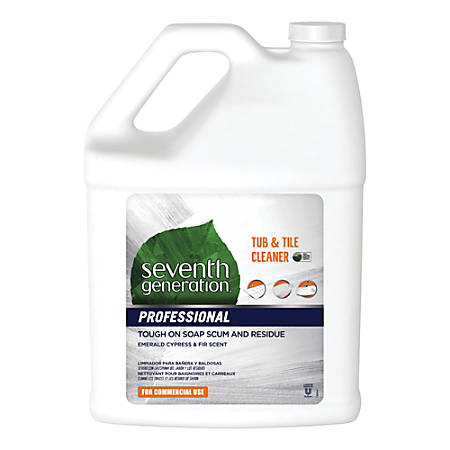 Seventh Generation™ Professional Tub And Tile Cleaner, Emerald Cypress And Fir, 1 Gallon, Carton Of 2 Bottles