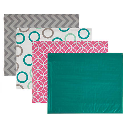 """Office Depot® Poly Fashion Bubble Mailer, #0, 6 1/2"""" x 9"""", Assorted Colors"""