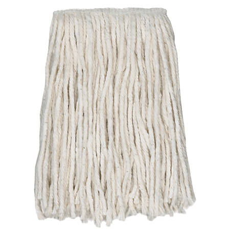 Wilen Cotton Choice™ Cut-End Fan Mop, Narrow Band 4-Ply #24, Pack Of 12