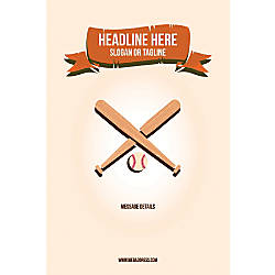 Custom Poster Baseball Vertical