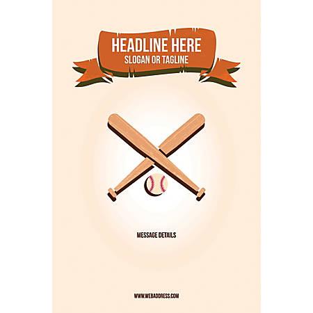 Custom Poster, Baseball, Vertical