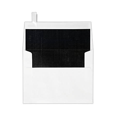"LUX Invitation Envelopes With Peel & Press Closure, A2, 4 3/8"" x 5 3/4"", Black/White, Pack Of 250"