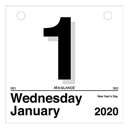 """AT-A-GLANCE® Today Is Daily Wall Calendar Refill, 6"""" x 6"""", January To December 2020, K150"""