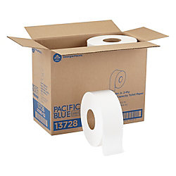 Georgia-Pacific Jumbo Jr. 2-Ply Bathroom Tissue, 20% Recycled, 1,000' Roll, Case Of 8 Rolls