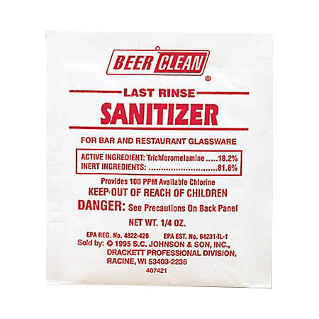 JohnsonDiversey Last Rinse Sanitizer , 0.25 Oz., Case Of 100