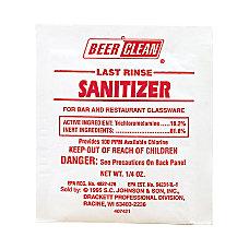 JohnsonDiversey Last Rinse Sanitizer 025 Oz