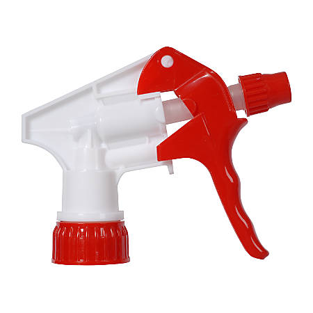 """Continental Multi-Purpose Pro Spray Bottle Triggers, 8 1/4"""" Dip Tube, Red/White, Pack Of 200"""