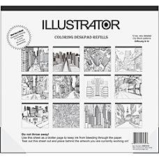 Aurora Illustrator Coloring Deskpad Refills 18