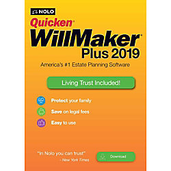 Nolo Quicken WillMaker Plus 2019 & Living Trust- Digital Delivery (Windows)